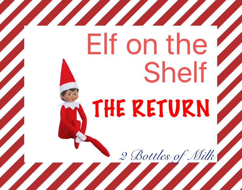 Elf on the Shelf 2016: Day One: The Return of Elfie!