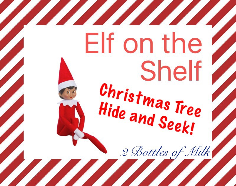 Elf on the Shelf 2016 Day 2: Christmas Tree Hide and Seek!