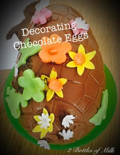 Decorating Chocolate Eggs