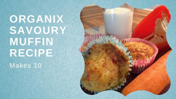 Organix – Rainbow Savoury MuffinsRecipe