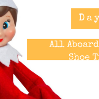Elf on the Shelf: Day 6: All Aboard the Shoe Shoe Train!